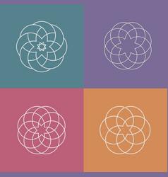 set linear abstract pattern logos vector image