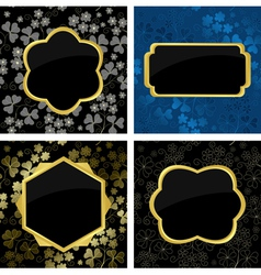 Set of card with geometric frames vector