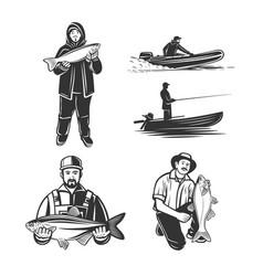 Set on a fishing theme vector