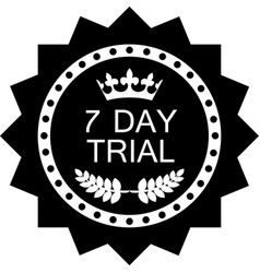Seven day trial icon vector