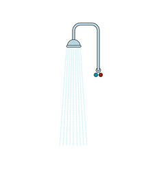 shower isolated water and central water supply vector image