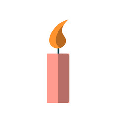 simple icon a burning candle burning vector image