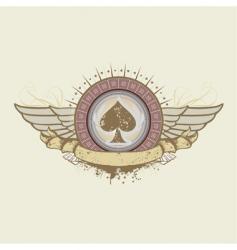 Spades suit emblem vector