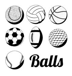 sport balls design vector image