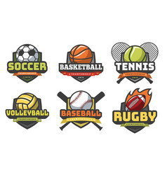 Sports balls logos sport logo ball soccer vector