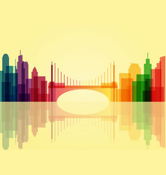 stylish transparent cityscape background with vector image
