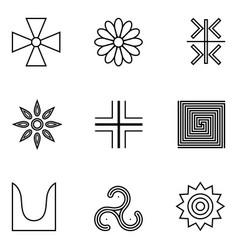 Symbols ancient serbs vector