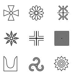 symbols of ancient serbs vector image