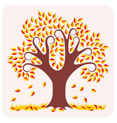 Tree in autumn vector