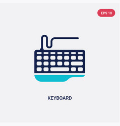 two color keyboard icon from blogger and vector image
