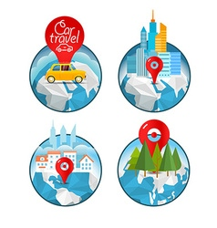 Vacation travelling concept travel Take vac vector image