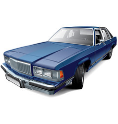 vintage american full-size luxury sedan vector image
