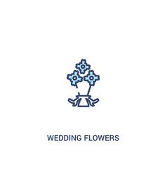 Wedding flowers concept 2 colored icon simple vector