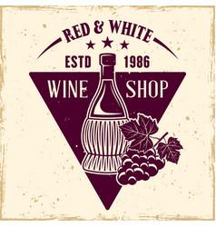 Wine shop emblem label badge or logo vector