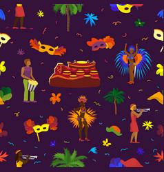 brazil carnival rio festival celebration vector image vector image