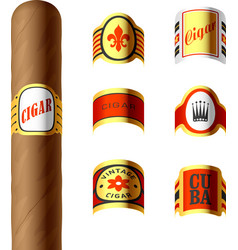Cigar labels vector image vector image