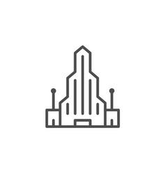 modern building line icon vector image vector image