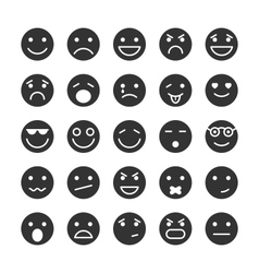 Smiley faces icons set of emotions vector image