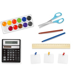 office supplies vector vector image vector image