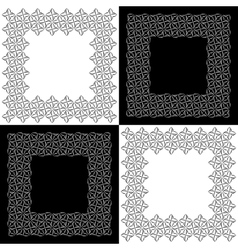 Set of Four Lacy Floral Frames vector image