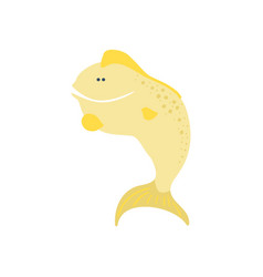smiling funny fish cartoon vector image