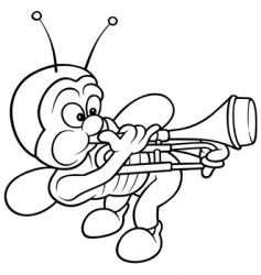 bug and trombone vector image