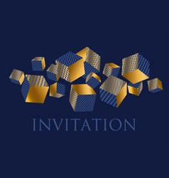 concept 3d geometric cubes composition vector image