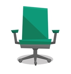 Green office chair vector image