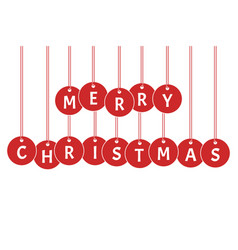 merry christmas xmas celebration vector image