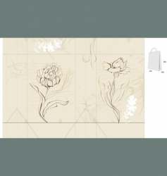 template for decorative bag vector image vector image
