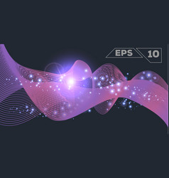 abstract purple wave vector image