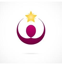 Corporate Success Winner logo template Business vector image
