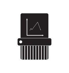 Flat icon in black and white shredder vector