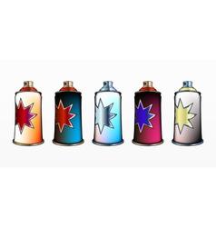 spray aerosol set vector image