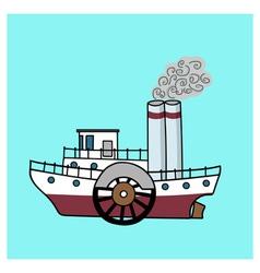 steamship vector image