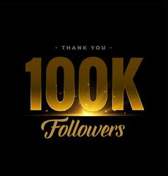 100k social media network followers vector