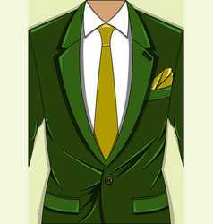 a green man suit vector image