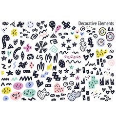 abstract fillers and decorative isolated elements vector image