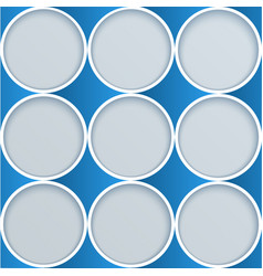 abstract paper circles advertising template vector image