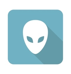 Alien square icon vector
