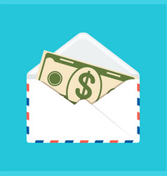 banknote in envelope vector image