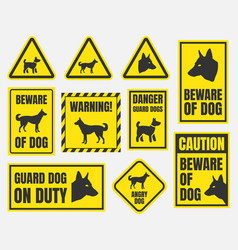 beware of dog sign vector image