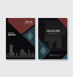 black annual report cover leaflet brochure flyer vector image