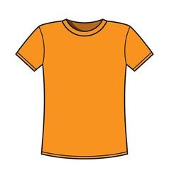 Blank yellow t-shirt template vector