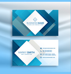 Blue abstract business card modern template vector