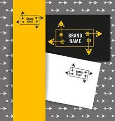 Brand name arrow vector