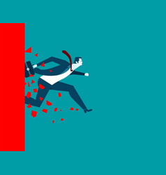 businessman over wall vector image