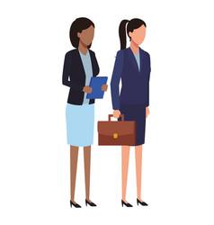 Businesswomen team coworker faceless vector
