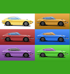 car in pop art style vector image vector image