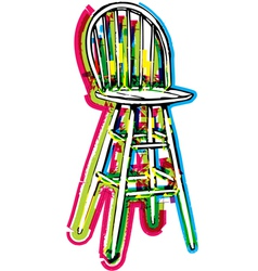 Chair on white background vector image